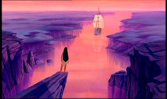 pocahontas ship sailing away at the end