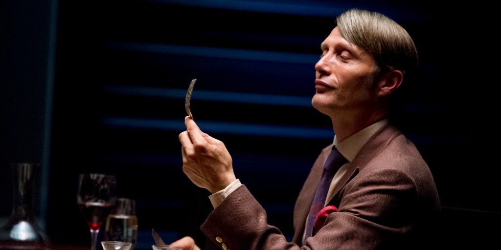 "This publicity image released by NBC shows Danish actor Mads Mikkelson as Dr. Hannial Lecter in a scene from the upcoming TV series, ""Hannibal."" The series, based on the Thomas Harris novels and starring Mikkelson, Hugh Dancy, and Laurence Fishburne, will premiere on April 4, 2013 on NBC. (AP Photo/NBC, Brooke Palmer)"